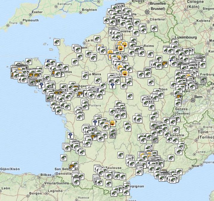 Carte France circuits
